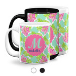 Preppy Hibiscus Coffee Mugs (Personalized)