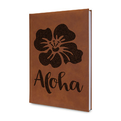 Preppy Hibiscus Leatherette Journal (Personalized)