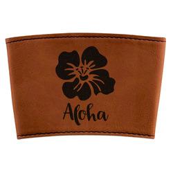 Preppy Hibiscus Leatherette Mug Sleeve (Personalized)
