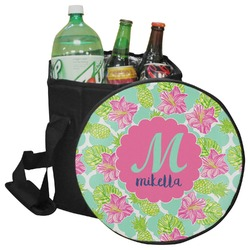 Preppy Hibiscus Collapsible Cooler & Seat (Personalized)