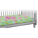 Preppy Hibiscus Crib Fitted Sheet (Personalized)