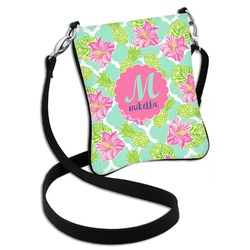 Preppy Hibiscus Cross Body Bag - 2 Sizes (Personalized)