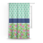 Preppy Hibiscus Curtain (Personalized)
