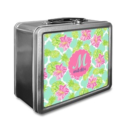 Preppy Hibiscus Lunch Box (Personalized)