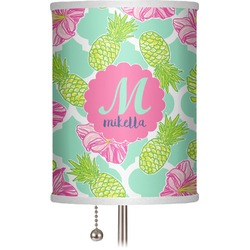 "Preppy Hibiscus 7"" Drum Lamp Shade (Personalized)"