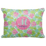 "Preppy Hibiscus Decorative Baby Pillowcase - 16""x12"" (Personalized)"