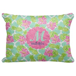 "Preppy Hibiscus Decorative Baby Pillowcase - 16""x12"" (Personalized)"