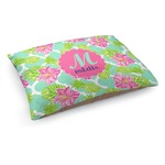 Preppy Hibiscus Dog Bed (Personalized)