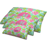 Preppy Hibiscus Dog Bed w/ Name and Initial