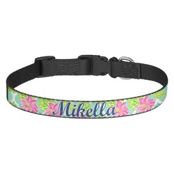 Preppy Hibiscus Dog Collar - Multiple Sizes (Personalized)