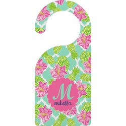 Preppy Hibiscus Door Hanger (Personalized)
