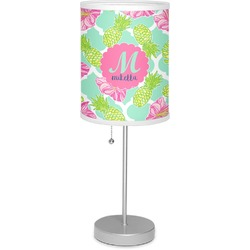 "Preppy Hibiscus 7"" Drum Lamp with Shade (Personalized)"