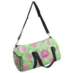 Preppy Hibiscus Duffel Bag (Personalized)