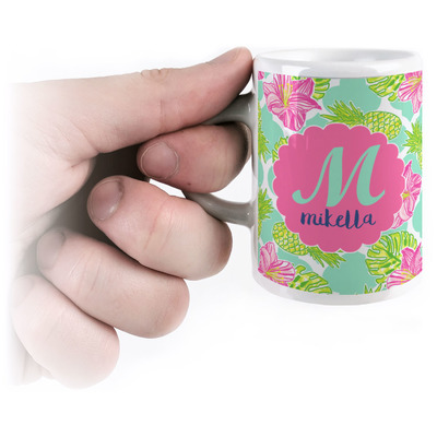 Preppy Hibiscus Espresso Cups (Personalized)