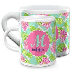 Preppy Hibiscus Espresso Cups (Personalized)