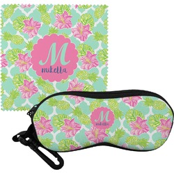 Preppy Hibiscus Eyeglass Case & Cloth (Personalized)