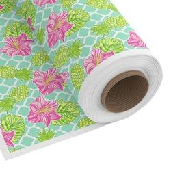 Preppy Hibiscus Custom Fabric - Spun Polyester Poplin (Personalized)
