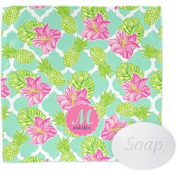 Preppy Hibiscus Wash Cloth (Personalized)