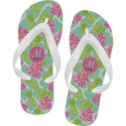 Preppy Hibiscus Flip Flops (Personalized)