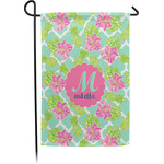 Preppy Hibiscus Garden Flag - Single or Double Sided (Personalized)