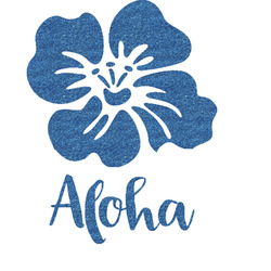 "Preppy Hibiscus Glitter Sticker Decal - Up to 9""X9"" (Personalized)"