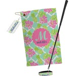 Preppy Hibiscus Golf Towel Gift Set (Personalized)