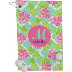 Preppy Hibiscus Golf Towel - Full Print (Personalized)