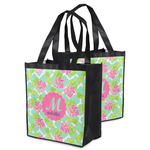 Preppy Hibiscus Grocery Bag (Personalized)