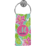 Preppy Hibiscus Hand Towel - Full Print (Personalized)