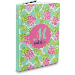 Preppy Hibiscus Hardbound Journal (Personalized)