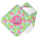 Preppy Hibiscus Hooded Baby Towel (Personalized)