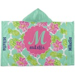 Preppy Hibiscus Kids Hooded Towel (Personalized)