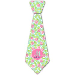 Preppy Hibiscus Iron On Tie (Personalized)
