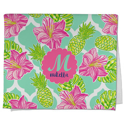 Preppy Hibiscus Kitchen Towel - Full Print (Personalized)
