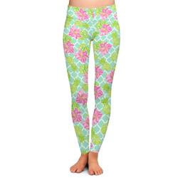Preppy Hibiscus Ladies Leggings (Personalized)