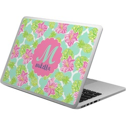 Preppy Hibiscus Laptop Skin - Custom Sized (Personalized)