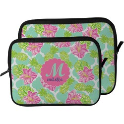 Preppy Hibiscus Laptop Sleeve / Case (Personalized)