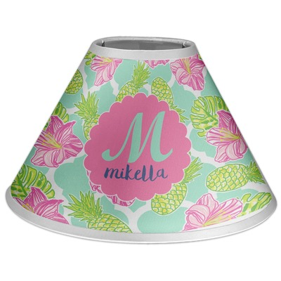 Preppy Hibiscus Coolie Lamp Shade (Personalized)