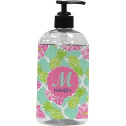 Preppy Hibiscus Plastic Soap / Lotion Dispenser (Personalized)