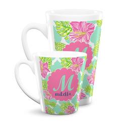 Preppy Hibiscus Latte Mug (Personalized)