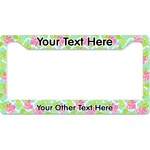 Preppy Hibiscus License Plate Frame (Personalized)