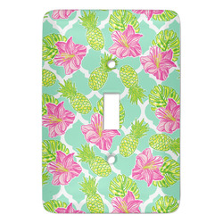 Preppy Hibiscus Light Switch Covers (Personalized)