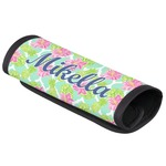 Preppy Hibiscus Luggage Handle Cover (Personalized)