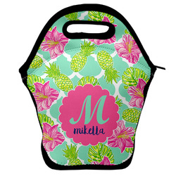 Preppy Hibiscus Lunch Bag w/ Name and Initial