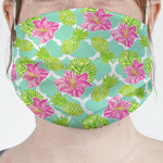 Preppy Hibiscus Face Mask Cover (Personalized)