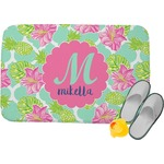 Preppy Hibiscus Memory Foam Bath Mat (Personalized)