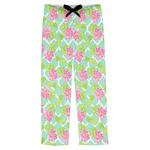Preppy Hibiscus Mens Pajama Pants (Personalized)