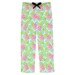 Preppy Hibiscus Mens Pajama Pants (Personalized)