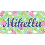Preppy Hibiscus Mini / Bicycle License Plate (Personalized)