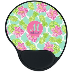 Preppy Hibiscus Mouse Pad with Wrist Support